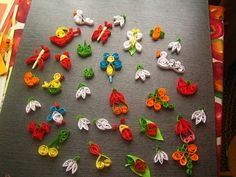 Joc si culori: Martisoare quilling