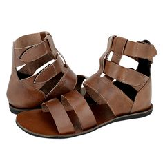 Durbe - Guy Laroche Men's sandals made of leather without lining with synthetic outsole.  Available in color Black and Brown.