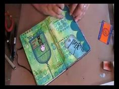 'Live every day...' art journaling  France papillon---great video