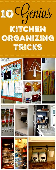 """Hearing you should """"maximize your use of the space you have"""" doesn't really help. These kitchen organization tips show ten genius tricks to actually do it."""