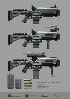 GREYSTONE Project - GoreArms 25mm Shotgun by hunterkiller.deviantart.com on @DeviantArt