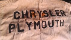 Chrysler Plymouth 'Can't Bust 'Em' Shop Coat