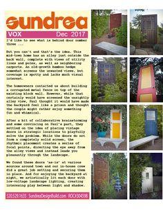 These fun doors create VISUAL rhythm in this garden!