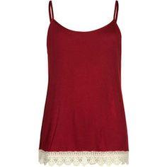 FULL TILT Essential Girls Crochet Trim Cami