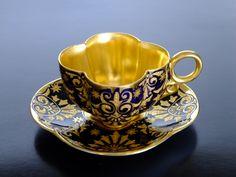 Coalport UK c.1890 demitasse cup and saucer