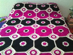 ergahandmade: Crochet Octagons Blanket + Free Pattern + Video Tutorial