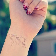 Unique wrist tattoo tumblrg 700706 be a beauty pinterest featuring the world map tattoo from our etsy shop gumiabroncs Choice Image