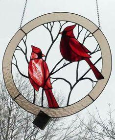 Cardinals #StainedGlassPatternsFree