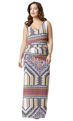 Geometric Pieced Maxi Dress
