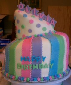 Cute Topsy Turvy Cake
