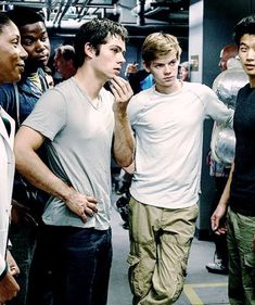 Thomas Brodie-Sangster and Dylan O'Brien in scorch trials