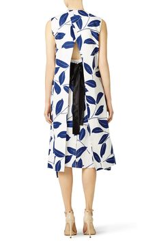 Blue Olive Branch Dress by Marni for $300 | Rent the Runway