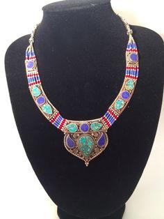 Halskette, Himalaya, Ethnoschmuck, Lapislazuli von Burning Desire  auf DaWanda.com