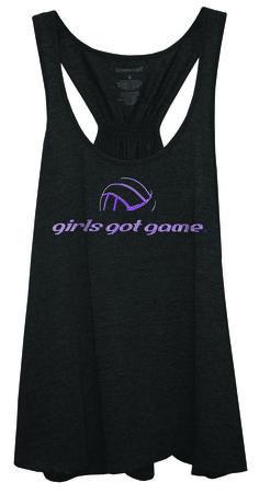 NEW! girls got game Rhinstone Volleyball Tank