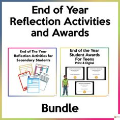 Make theend of year reflective and special for your high school students with our activities and students awards. A great way to end the school year on a positive note.This bundle includes 2 of our resources.A. End of the Year Reflection Activities for Secondary StudentsLet your teens have some fun ...
