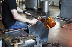Behind the scenes in the design process for member Niche Modern's Amber Trove lamp.