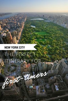 The perfect itinerary and travel guide to New York City! This photo is of Central Park.
