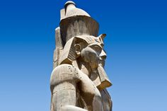 Statue of Ramessess II within Luxor Temple.