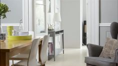 from Ideal Home Magazine nice neutral color palette love grey color of the console table