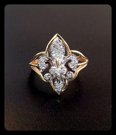 Diamond and gold fleur de lis ring. $595.00 Gayle's Jewelers Bogalusa, LA