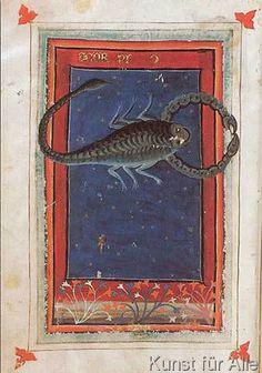 italienisch Buchmalerei - Tierkreis, Skorpion / aus Zothorus