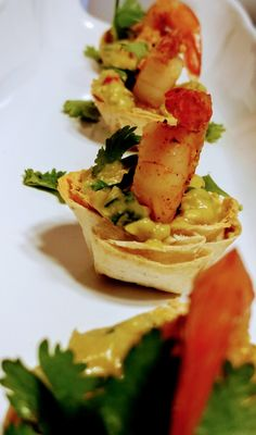 Shrimp guacamole cups!