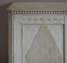 Gustavian Sideboard with Grey-Painted Top image 4