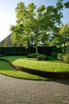garden design Backyard lawn - Ideas For Landscape Architecture Design Backyard Lawn Modern Landscaping, Front Yard Landscaping, Landscaping Ideas, Mulch Landscaping, Landscaping Borders, Florida Landscaping, Modern Pergola, Modern Backyard, Metal Pergola