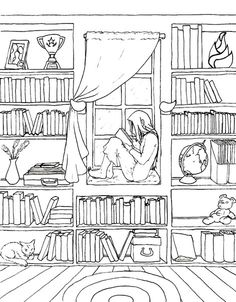 Off The Bookshelf Coloring Book 45 Weirdly Wonderful Designs To