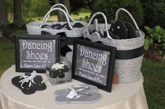 Flip-flops make great wedding favors by letting the ladies dance the night away pain-free.