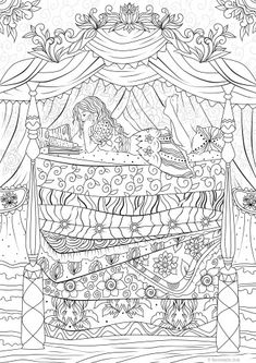 Architectural Art Coloring Book New Princess Printable Adult Coloring Page From Favoreads Coloring Book Pages for Adults and Kids Coloring Sheets Coloring Designs Adult Coloring Book Pages, Free Coloring Pages, Coloring Books, Kids Coloring, Princess And The Pea, Printable Adult Coloring Pages, Colorful Drawings, Patterns, Join