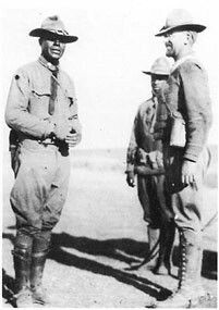 Charles Young with white officers in Mexico. Credit: Fort Huachuca Museum. Image may be subject to copyright. Google Search
