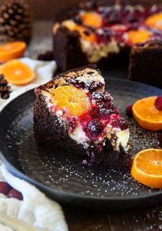 Cranberry Orange Spice Cake with Citrus Cream Cheese - Some the Wiser