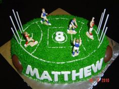 Tasty food, cakes and snacks for your AFL Grand Final footy party Birthday Cake For Cat, Harry Birthday, 4th Birthday Cakes, Boy Birthday Parties, Thomas Birthday, Birthday Stuff, Big Cakes, Food Cakes, Football Cakes For Boys
