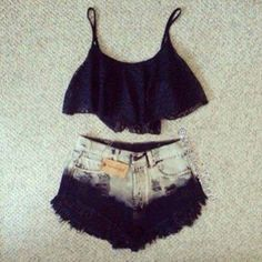 i dont like belly shirts but i love the shorts
