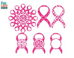 Awareness Ribbon monogram frames monogram frames svg by FunLurnSVG