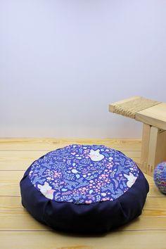 Meditation zafu cover - UNFILLED yoga pillow - Fox pillow for kids