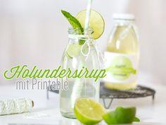 Holunderbütensirup  - Rezept mit Etiketten zum Download
