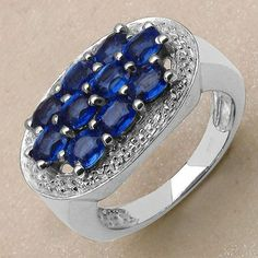 2.70CTW Genuine Kyanite .925 Sterling Silver Ring - http://www.johareez.com/shop/justbuyit/rings/2-70ctw-genuine-kyanite-925-sterling-silver-ring-11429/$10630933