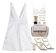 """""""Untitled #1529"""" by breannaflorence ❤ liked on Polyvore featuring Valentino, Topshop, NARS Cosmetics, Boohoo and Hanky Panky"""
