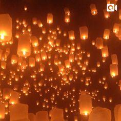 Loi Krathong (ลอยกระทง) festival in Thailand #wanderlust