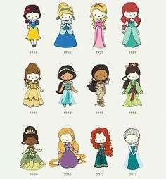 Disney princess threw the years