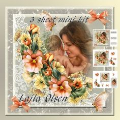 Mother and Child by Lajla Olsen 8x 8 cardfront with decoupagetaggiftcard and sentiment tags.3 sheets for you to printEnjoy)