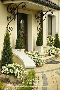 Hauseingang – Garten - front yard landscaping ideas with rocks Pergola Diy, Pergola Ideas, Porch Ideas, Patio Ideas, Backyard Ideas, Backyard Garden Design, Rustic Backyard, Backyard Patio, House Entrance