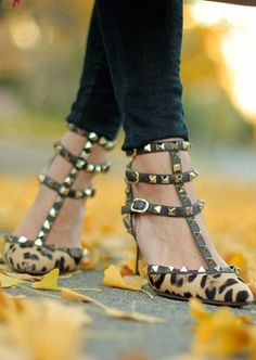 Leopard rockstuds. Valentino. My favorite shoes ever, I need a pair!!!!!