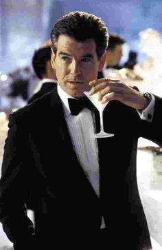 Actor Pierce Brosnan as James Bond.