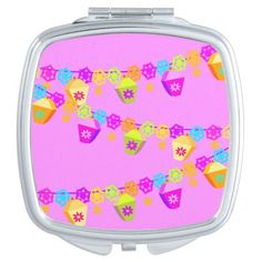 A Pretty compact mirror from Zazzle! Mirrors For Makeup, Chinese Lanterns, Compact Mirror, Makeup Tools, Lunch Box, Colorful, Lights, Pretty, Bento Box