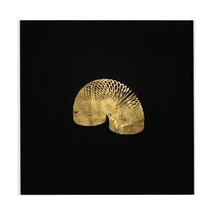 From Round and Around series, Ben Skinner. Gold leaf and lacquer on glass. (Slinky!)