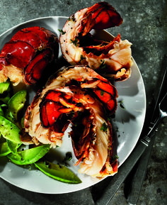 Healthy Meals You Can Make at Home - Beer-Steamed Lobster Tail with Avocado Slices