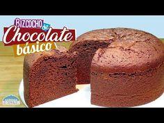 Bizcocho de chocolate básico - Jugoso, esponjoso y delicioso - Recetas p...